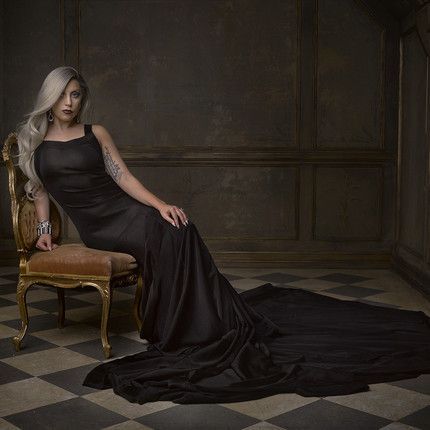Lady Gaga photographed by Mark Seliger for the 2015 Vanity Fair Oscar Party