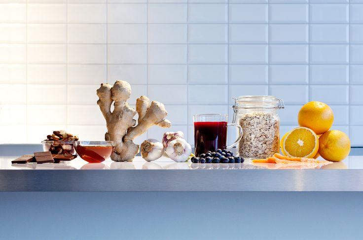 Maten vi stoppar i oss betyder massor för vårt immunförsvar. Varsågoda! Här är de 10 bästa ingredienserna för en friskare höst.