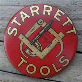 That's nice spot to put advertising on! --Starrett Tools advertising pocket mirror-- collection of such mirrors