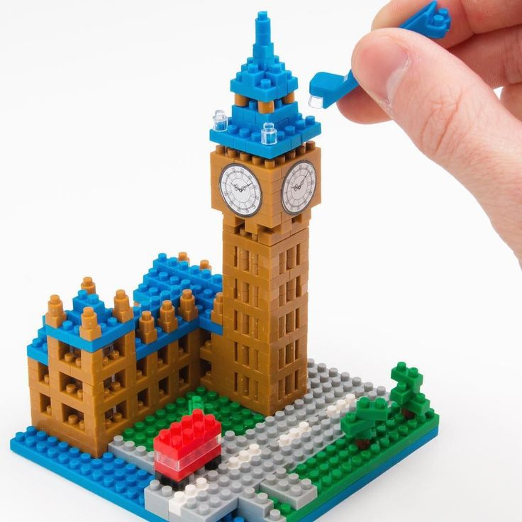 Build a NOT so Big Ben with tiny little blocks! Or why not the  Taj Mahal? #nanoblocks