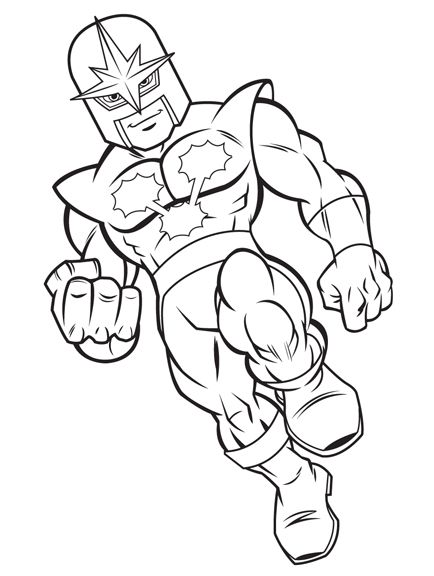 Draw Super Hero Squad Characters Sketch Coloring Page
