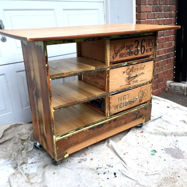 Kitchen Island Rustic top 25+ best island cart ideas on pinterest | wood kitchen island
