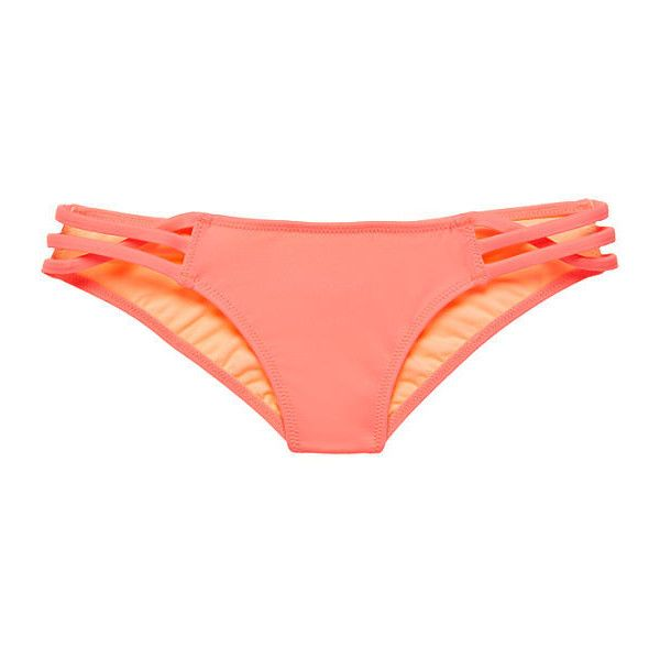 Victoria's Secret The Embroidered Teeny Triangle Top ($15) ❤ liked on Polyvore featuring swimwear, bikinis, tassel bikini, neck-tie, neck ties, victoria secret bikini and halter tops