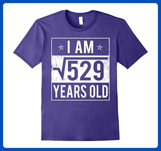 Mens Square Root 529 for 23rd Birthday 23 Years Old T-Shirt Medium Purple - Birthday shirts (*Amazon Partner-Link)