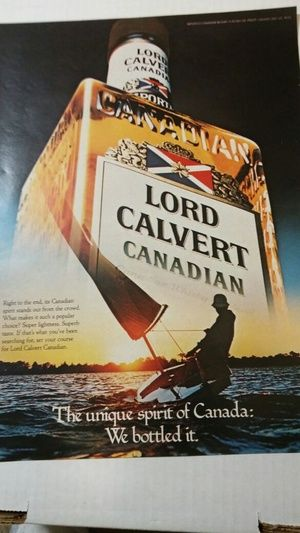 Lord Calvert Canadian magazine advertisement Vintage in Fort Myers, FL (sells for $3)