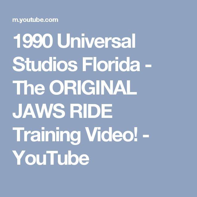 1990 Universal Studios Florida - The ORIGINAL JAWS RIDE Training Video! - YouTube