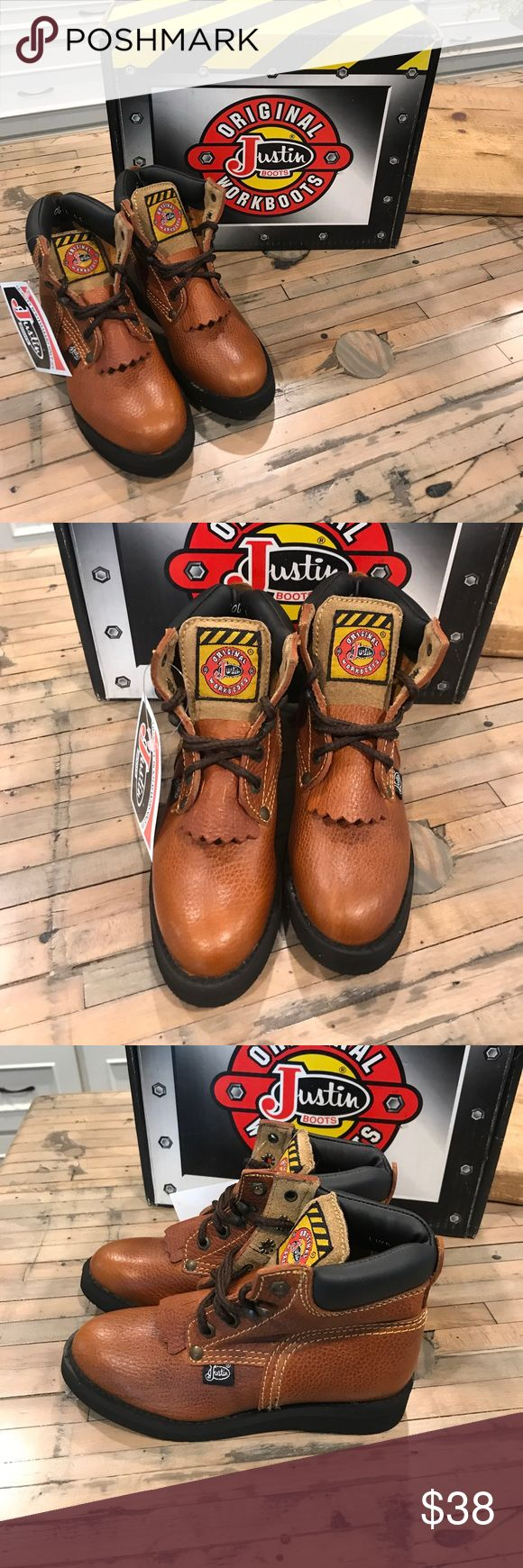 Justin Work Boots size kids 11 1/2 D Justin Work boots size 11 1/2 D kids. Never worn. Box included. Justin Boots Shoes Boots