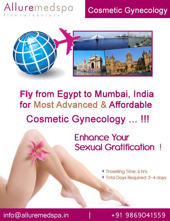 Cosmetic Gynecology surgery Include Vaginoplasty, Hymenoplasty, Labiaplasty etc by Celebrity Cosmetic Gynecology surgeon Dr. Milan Doshi. Fly to India for Cosmetic Gynecology  surgery at affordable price/cost compare to Cairo, Alexandria, Luxor,EGYPT at Alluremedspa, Mumbai, India.   For more info- http://Alluremedspa-egypt.com/