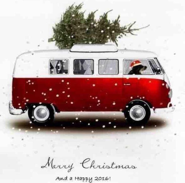 Christmas Card | VW Bulli | Weihnachten zeichnung ...