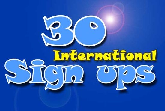 signups for website