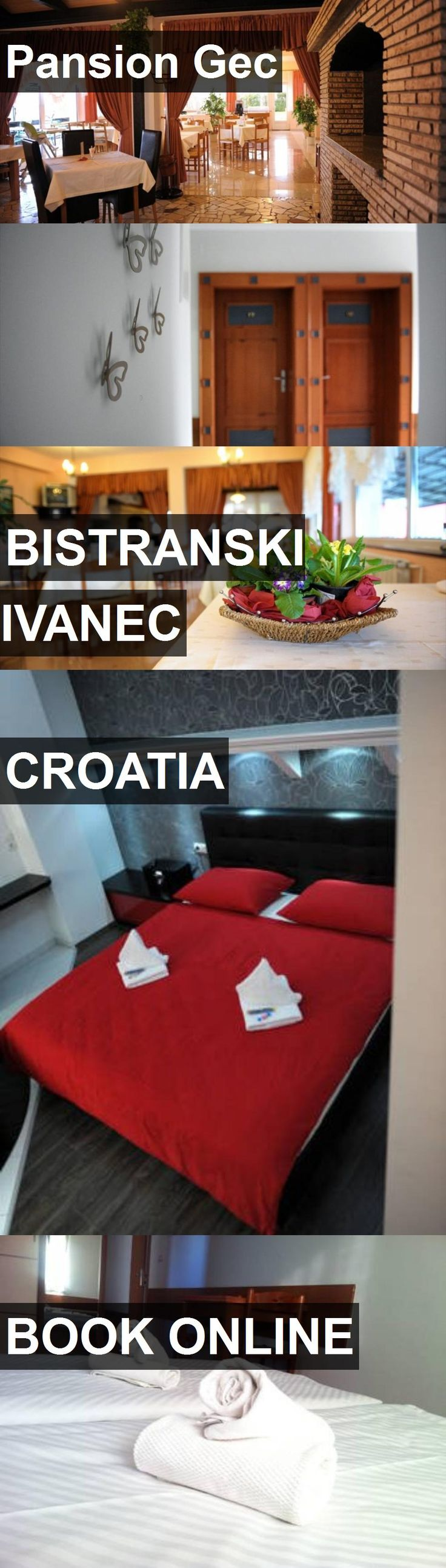 Hotel Pansion Gec in Bistranski Ivanec, Croatia. For more information, photos, reviews and best prices please follow the link. #Croatia #BistranskiIvanec #travel #vacation #hotel