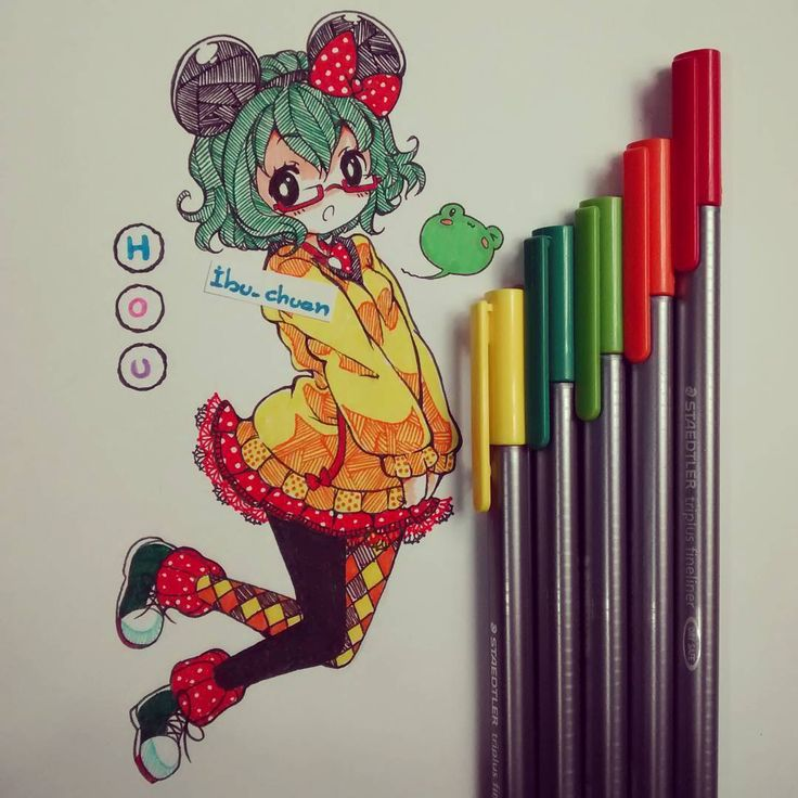 """Painted with pen staedtler"" <----read please :3 Cuando estoy estresada, me…"