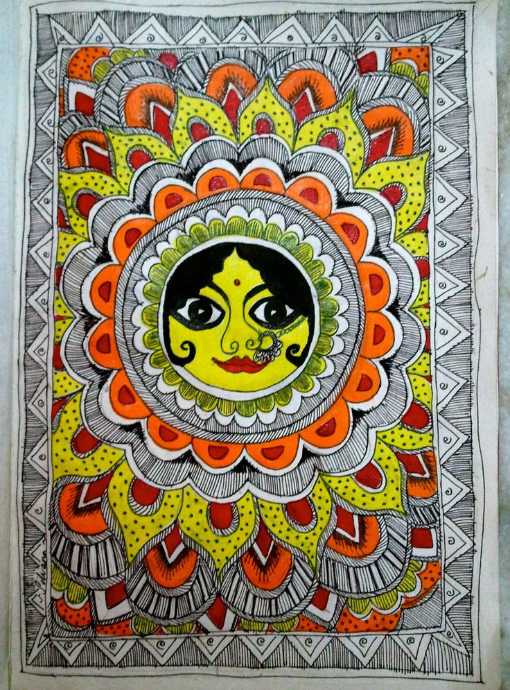 madhubani sun by red-fairy-dust.deviantart.com on @DeviantArt