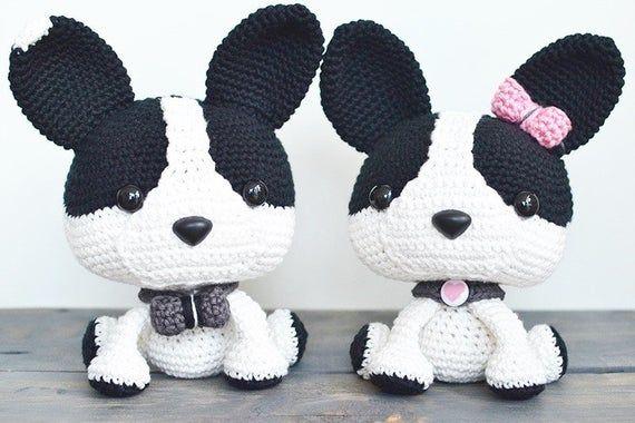 Amigurumi bulldog Frances | Crochet animal amigurumi, Crochet dog ... | 380x570