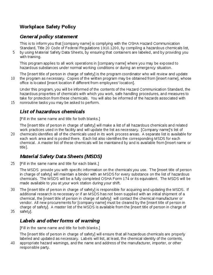Hazard Communication Program Template - http://www.valery-novoselsky.org/hazard-communication-program-template-3000.html