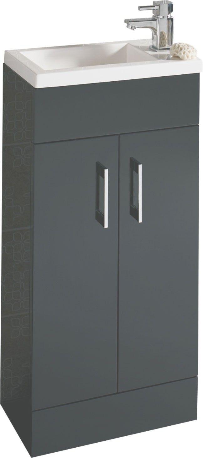 Lomond Gloss Anthracite 400 Floor Standing Cloakroom Vanity Unit    Cloakroom Basins   BasinsBest 10  Cloakroom vanity unit ideas on Pinterest   Small vanity  . Sink With Vanity Unit. Home Design Ideas