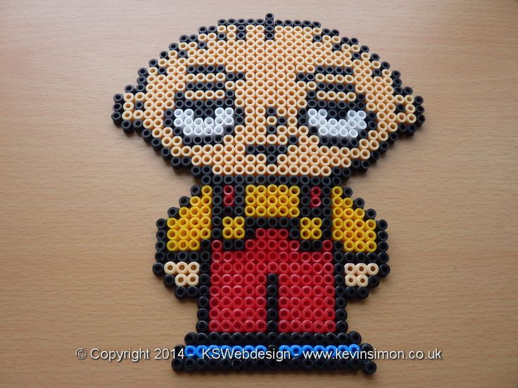 Stewie from family guy Hama / Fuse  / perler Beads see more at my site http://www.kevinsimon.co.uk/?p=4658