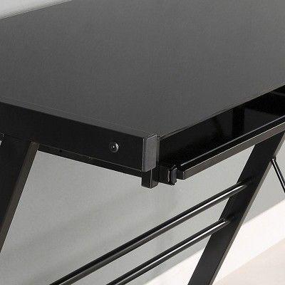 Glass Computer Desk - Black
