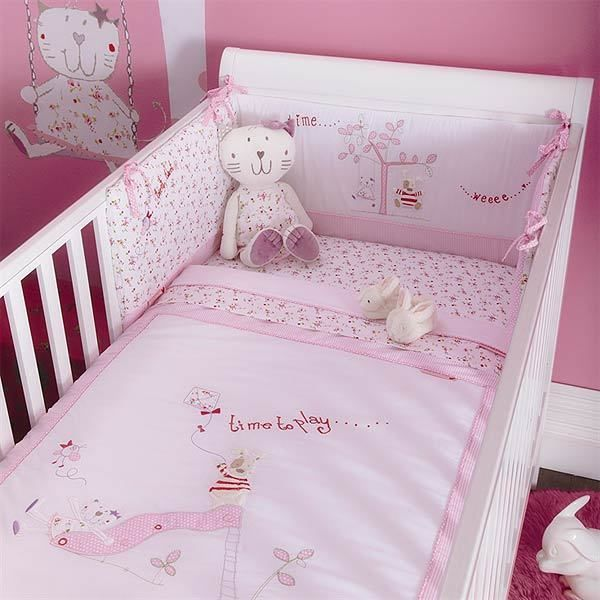 Izziwotnot Time To Play Baby Fleur 5 Piece 1 Tog Coverlet Bedding Bale, Cot Bed