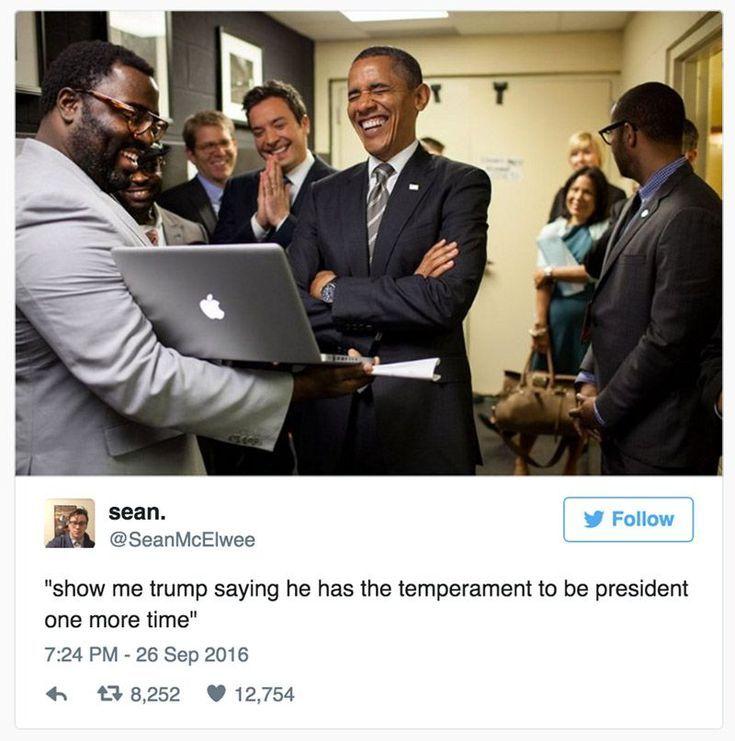 Funniest Presidential Debate Memes: Obama on Trump's Temperament