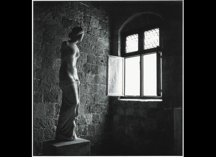 Robert McCabe. Rhodes 1954. This marble Aphrodite was found in the sea.