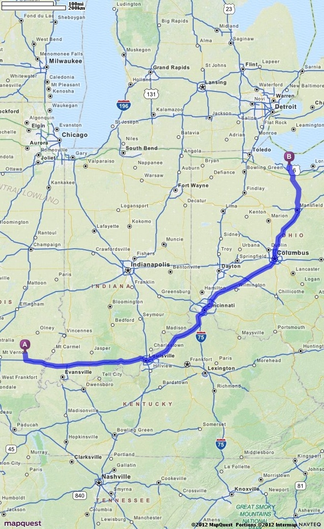 Driving Directions from Fairfield, Illinois to Cedar Point, Ohio | MapQuest