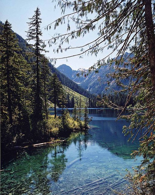 Emerald Lake on Vancouver Island, BC. Isn't it beautiful?