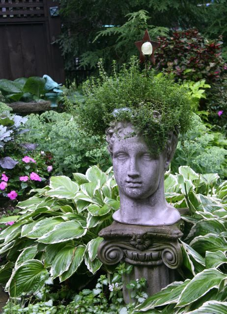 Garden+Art+From+Junk | ... By Local Artists. In. Head PlantersGarden  PlantersFlower ...