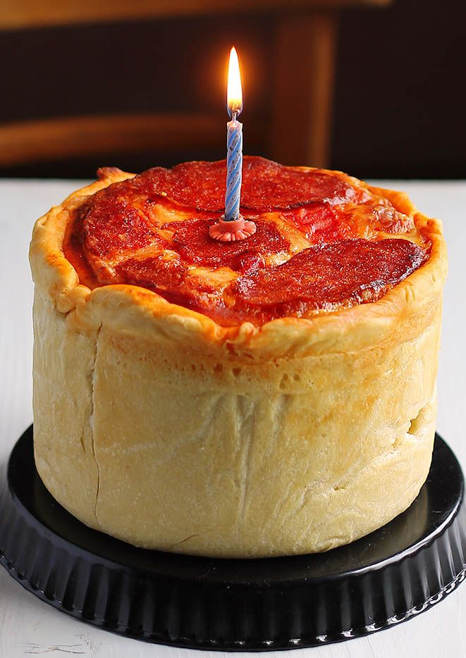 Pizza Cake Recipe - it's for reasons such as this I will never be skinny again - and that's just fine...
