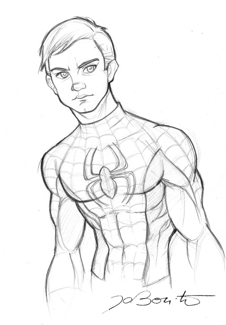 Drawing Of Spiderman Spiderman Peter Parker By Jobonito