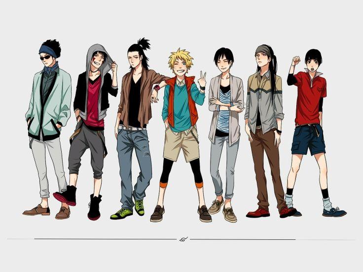 fashion naruto shippuden shikamaru nara anime boys rock lee hyuuga neji sai uzumaki naruto aburame shino kiba inuzuka