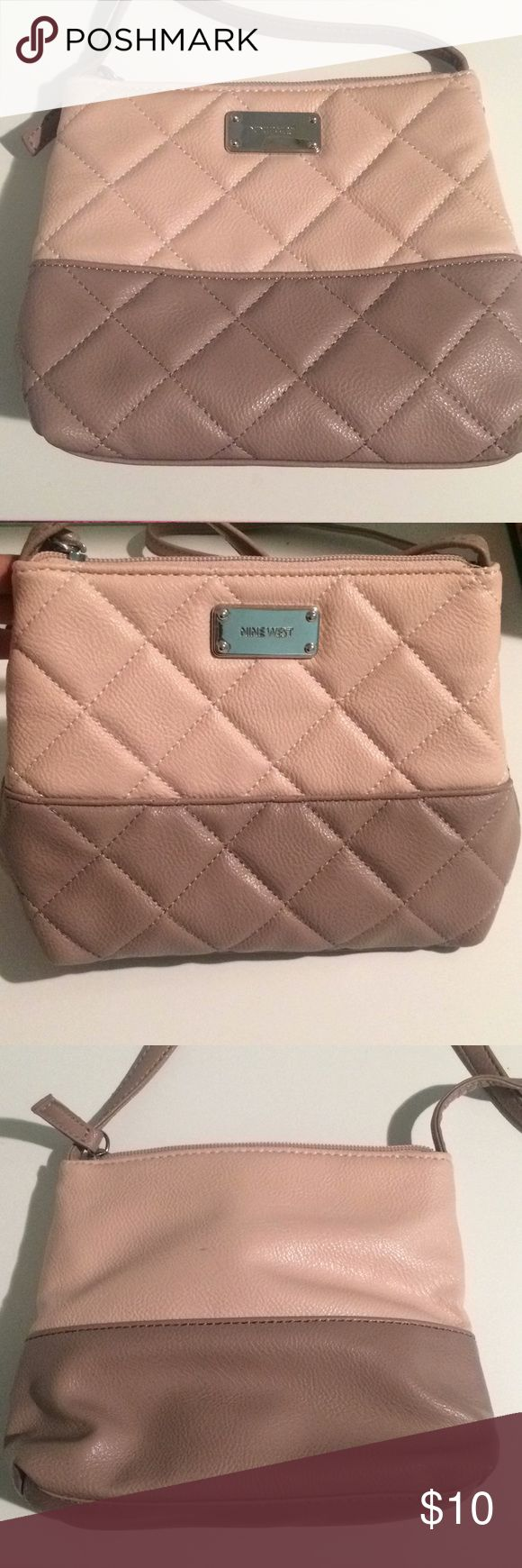 Bag It is two shades a cream light pink with a cream light purple Nine West Bags Crossbody Bags