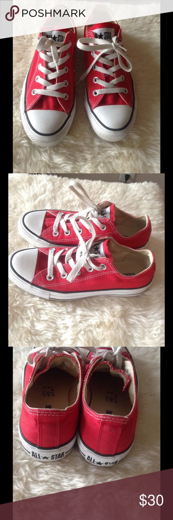 CYBER WEEK DEAL CONVERSE Red Sneakers Gently used & clean. Great condition. Converse Shoes Sneakers