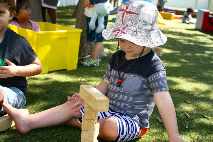 Fun with Building blocks in the Christopher Robin Pre-Primary