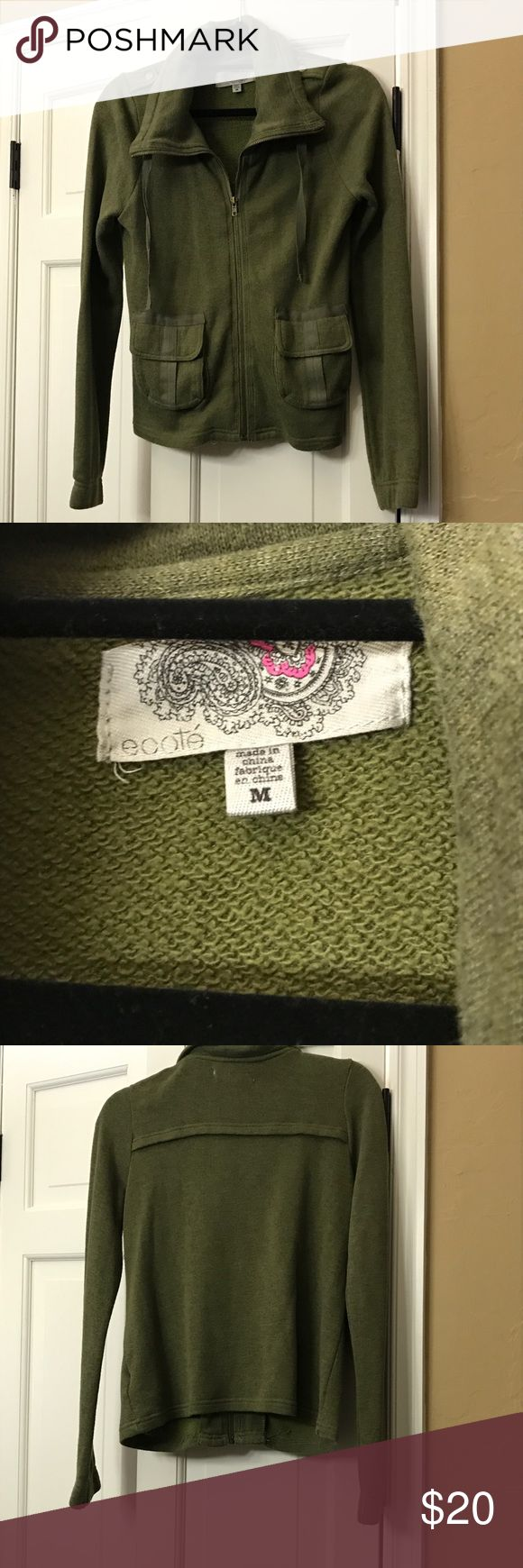 Urban outfitters green sweatshirt jacket size M Some stray threads at the hem, but was purchased like that, has never actually been worn. Urban Outfitters Jackets & Coats
