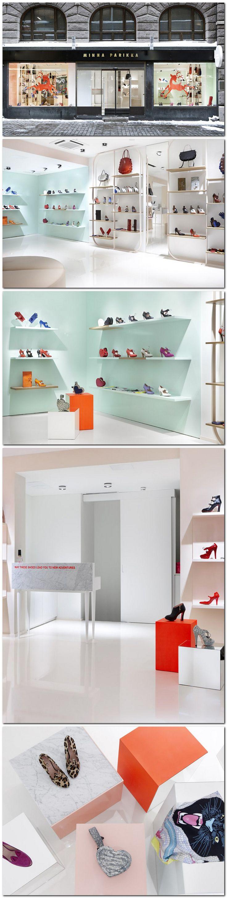 Minna Parikka. Retail, Helsinki by Joanna Laajisto #shoes zapateria tonos pasteles