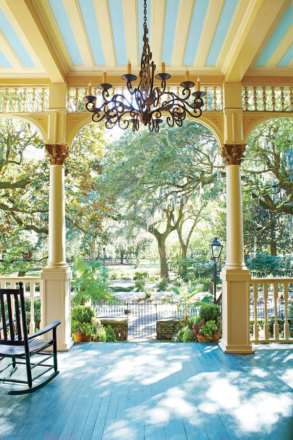 The Southu0027s Prettiest Porches Magnolia HouseOutdoor PatiosOutdoor