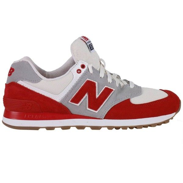 Sneakers Shoes Men ($74) ❤ liked on Polyvore featuring men's fashion, men's shoes, men's sneakers, menshoessneakers, red, mens leather sneakers, mens leather shoes, new balance mens sneakers, mens sneakers and new balance mens shoes