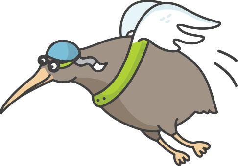 Kiwi from #flience :) #animal #illustration