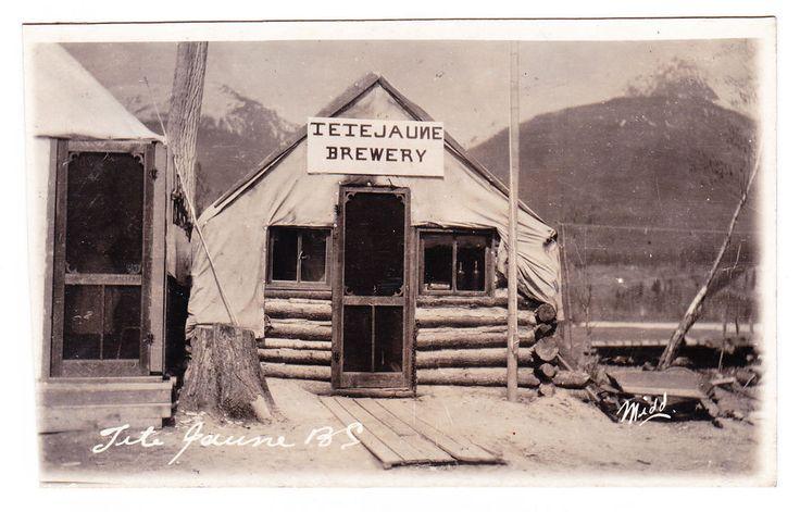 BC – TETE JAUNE CACHE, Tete Jaune Brewery c1904-1920s RPPC