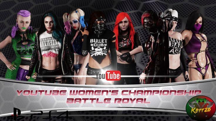 WWE 2K18 YouTube woman championship battle royal