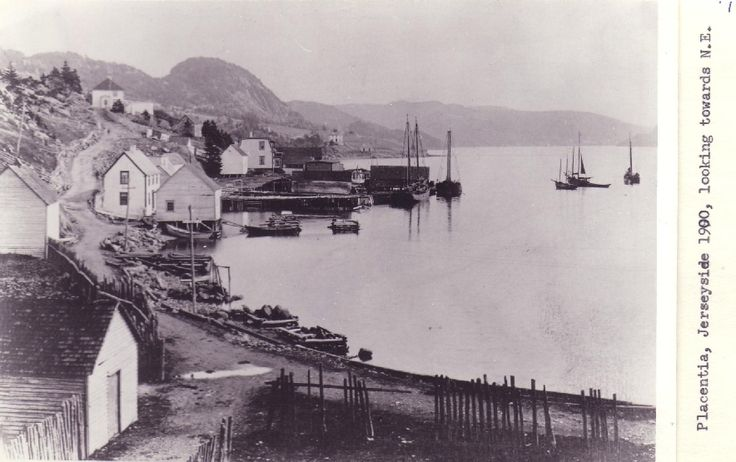 Placentia, Jerseyside, looking towards the north-east (1900)  Date:  1900 Location:  Placentia, Newfoundland