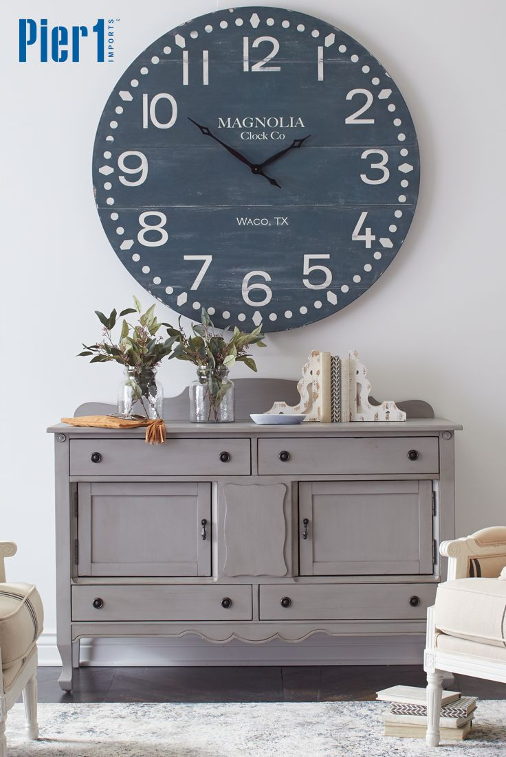 Clocks With Attention Grabbing Character Make Gorgeous Focal Points And This One From The Magnolia Home By Joanna Gaines Collection Is No Exception