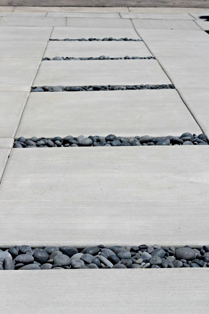Driveway with concrete and stones!
