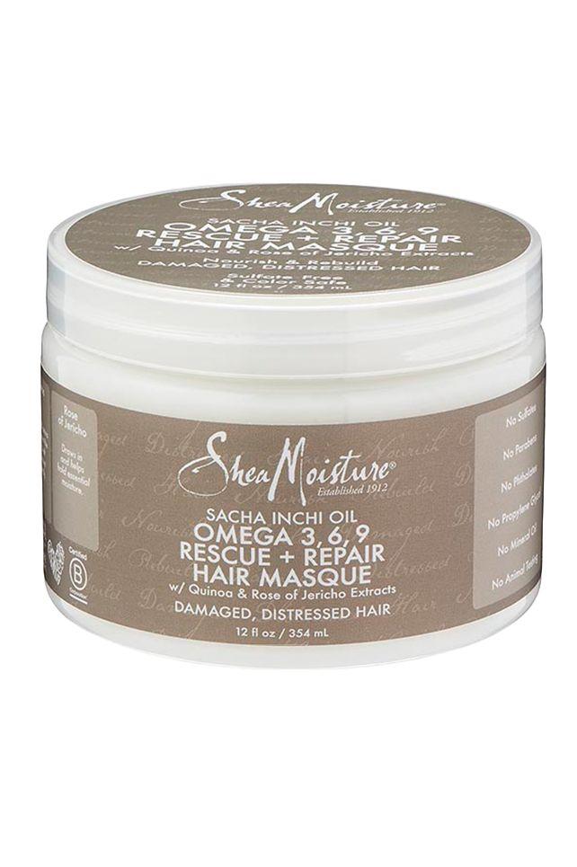 Sacha Inchi Oil Omega-3-6-9 Rescue + Repair Hair Masque - This saved my 3c/4a hair! LOVE.