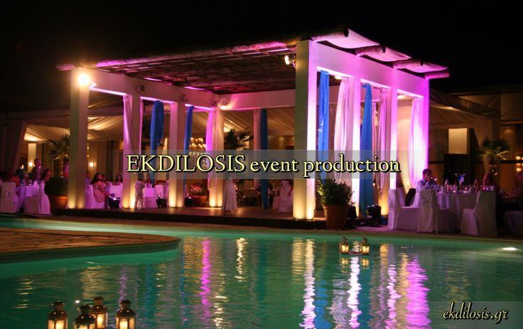 Η EKDILOSIS event production ανταποκρίνεται στις σύγχρονες παρουσιάσεις των γαμήλιων εκδηλώσεων,με κατάλληλες προτάσεις φωτισμού για να δημιουργήσετε έναν κομψό και ατμοσφαιρικό περιβάλλον για μικρές ή μεγάλες παραγωγές,σε κλειστό ή υπαίθριο χώρο,αναδεικνύοντας αποτελεσματικά το σύνολο της εκδήλωσης.
