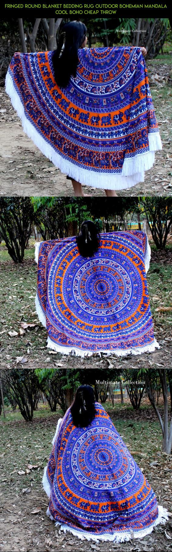 Fringed Round Blanket Bedding Rug outdoor Bohemian Mandala cool Boho Cheap Throw #products #cooling #technology #fpv #outdoor #tech #shopping #camera #drone #bed #kit #racing #gadgets #plans #parts
