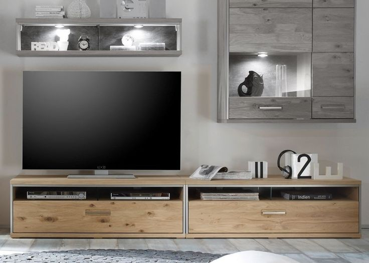 best 25+ lowboard massiv ideas on pinterest | tv board holz, tv ... - Fernseher Im Schrank