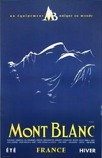 Mont Blanc France ski poster , Artist: Y. Laty