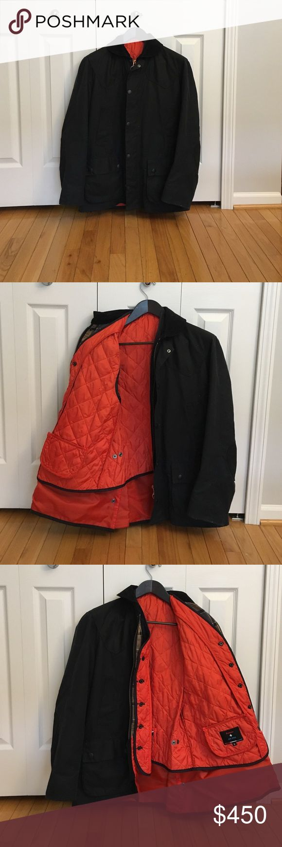 NWOT Jack Spade Barbour Wax jacket NWOT Jack Spade Barbour Wax jacket with removable orange vest. Never worn. Open to offers. Jack Spade Jackets & Coats Military & Field